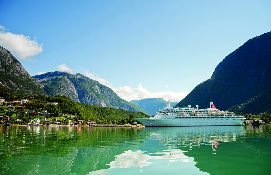 Black Watch docked in Eidfjord, Norway